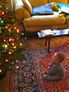 The awe and wonder of seeing Christmas through the eyes of a child. Amazing.